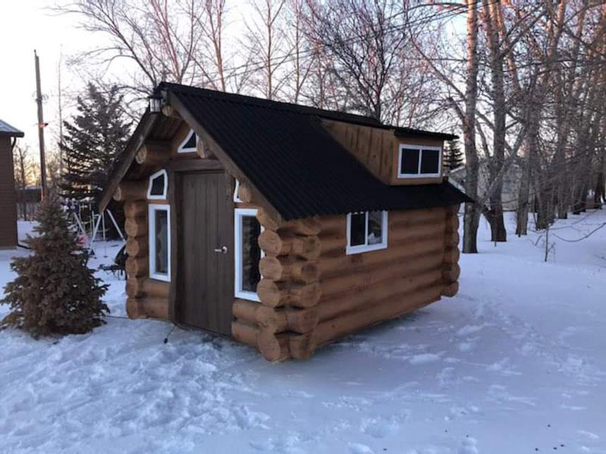 Sprayfoam Cabin Playhouse